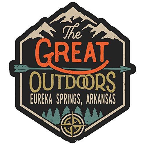 Eureka Springs Arkansas The Great Outdoors Design 4-Inch Vinyl Decal Sticker