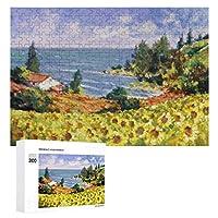 海の風景Painting 300ピースのパズル木製パズル大人の贈り物子供の誕生日プレゼント