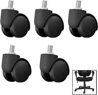 عجلات، عجلات كرسي مكتب، عجلات أثاث صامت 50 مم، مع قضيب ملولب M10، لكرسي الكمبيوتر، الأثاث المنزلي، سهلة التركيب، محامل متي...