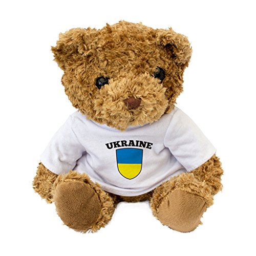 NEUF - UKRAINE DRAPEAU - Mignon Ours En Peluche - Doux Adorable - Noël Anniversaire Cadeau