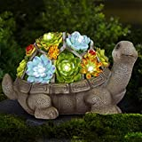 Gartenstatuen Schildkröte Ornamente Deko,Solar Schildkröte Dekoration,Gartendeko Schildkröte Solar Leuchte,Schildkröte Gartenfiguren,Gartenfigur mit LED solarbetriebenen Lichtern Dekorationen