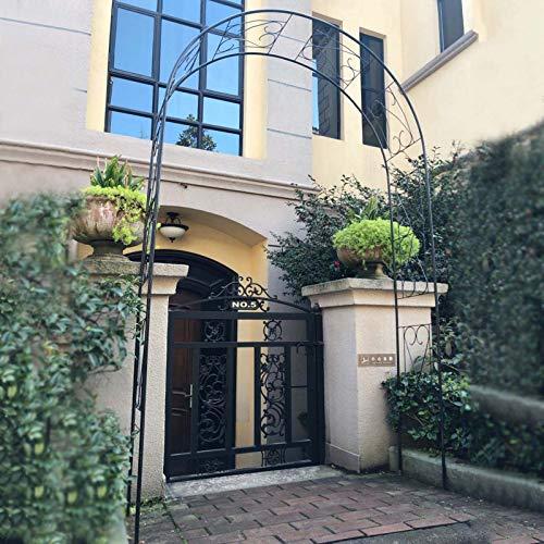 Arco Jardín con Portico Pergola Garden Gate Garden Arch Arco Boda Flores Soporte para Plantas Trepadoras Al Aire Libre 160×40×260cm