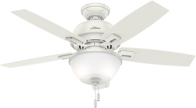 Hunter Fan Company 52226 Hunter 44  Donegan Bowl Fresh White Ceiling Fan with Light , Bronze Dark