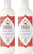 Nubian Heritage Coconut & Papaya Body Lotion (Pack of 2) with Shea Butter, Cocoa Seed Butter, Olive Oil, Aloe Vera Juice, ...