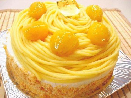 ロリアン洋菓子店 昔ながらの黄色いモンブラン 5号サイズ 直径15cm1台