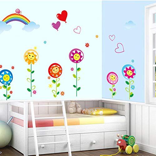 Kinderhöhe Aufkleber Cartoon Höhe Wandaufkleber Höhe Aufkleber können entfernt werden-Süße Sonnenblume (kaufen Sie 4 Stück und erhalten Sie einen Rabatt) _Extra groß