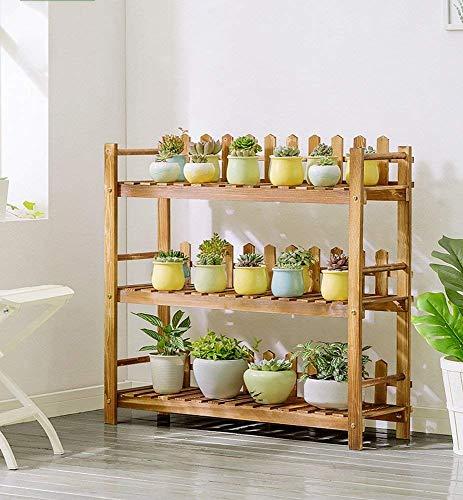 Présentoir d'usine de cadre de bonsaï, support moderne de fleur de plancher de balcon de planchers de bois de style solide moderne de style moderne simple (taille : 90 * 84cm)