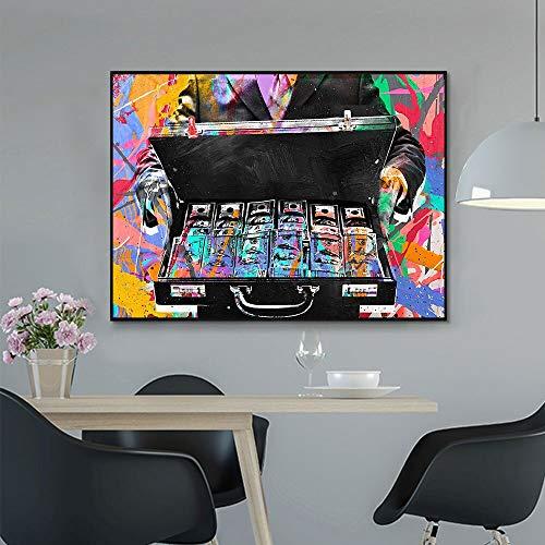 wZUN Cartel de Pintura de Lienzo de Color Abstracto Inspirador Cuadro de Arte de Pared para Sala de Estar decoración del hogar 50x75cm