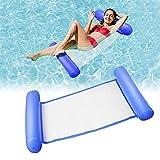 Cama flotante de agua Hamaca para salón, hamaca de agua, hinchable, tumbona para mar o piscina (Dark Blue-1)