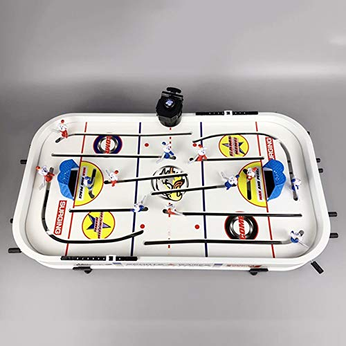 Find Bargain EDED Toy Stop Deluxe Wooden Mini Table Top Air Hockey Game with Ice Hockey Toy on Table...