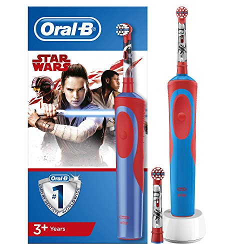 Oral-B Stages Power Kids - Cepillo Eléctrico Recargable para Niños con Personajes de Star Wars de Disney, 1 Mango, Cabezal...