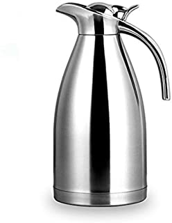 Bonnoces 64 Oz Stainless Steel Thermal Carafe - Double Walled Vacuum Insualted Thermos/Carafe with Lid - Coffee/Tea Carafe Heat & Cold Retention - 2 Liter