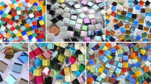 Bazare Masud e.K. Mosaic Stones, 6 Different Types, 1 x 1 cm, Approx. 40 g, Pack of 560