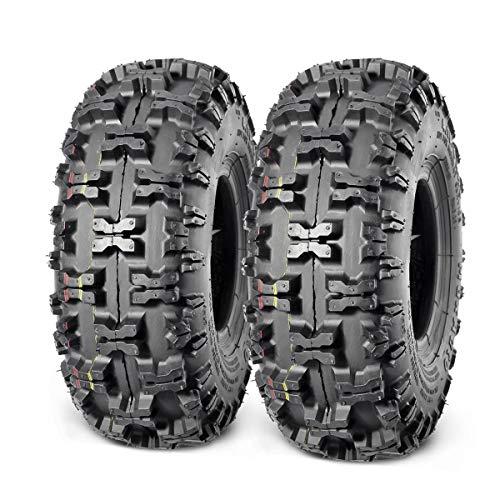 Set of 2 MaxAuto 4.10-4 Tires 410-4 Go Cart Tire 4.10/3.50-4 for Garden Lawn Mowers Hand Truck Tire Snow Blower Snow Hog Bias Tire ATV Wheelbarrow Rototiller Tubeless