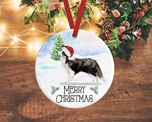 Xmas Tree Ornament Covid 2020 Ornament Border Collie Christmas Ornament Collie Gift Personalised Dog Decoration Border Collie Gifts Pet Remembrance Christmas Tree Decoration 3'