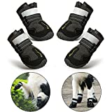 RoyalCare Dog Boots Paw Protector, Set of 4 Waterproof Anti-Slip Soft Dog Shoes with Reflective for...