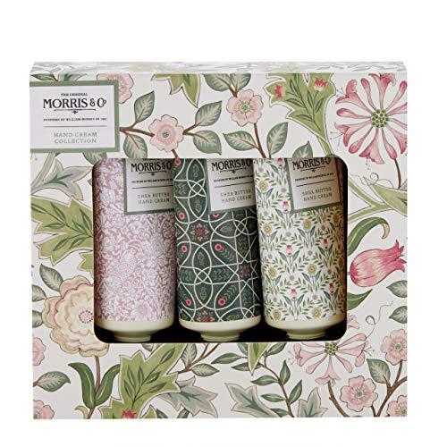 Morris & Co. Beauty Jasmin und Grüner Tee Handcreme-Kollektion Geschenkbox Reisegröße, 3 x 30 ml