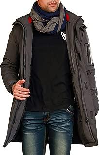 Winter Coats for Men Parka Down Jacket Zipper Hoodie Hooded Outwear Jumper