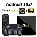 Android TV Box 10, 4GB 128GB Compatible con 8K 4K 3D, Amlogic s905x3 Dual-WiFi 2.4g / 5g Smart TV Box con Mini Teclado