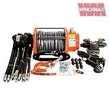 Winchmax - Argano idraulico originale arancione da 6,804 kg, corda Dyneema, sistema di controllo completo