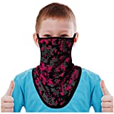 FMDAN Kids Neck Gaiter Face Mask with Ear Loops Bandana Face Mask for Boys Girls (Camo Multicolored 200303A)