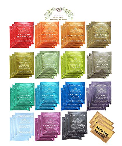 Harney amp Sons 15 Flavors Assorted Tea Sampler 45 Counts Great for Birthday Meeting and Gifts
