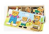 Los juguetes educativos de los niños soportan el cambio de ropa de puzzle magnético bebé aprendiendo a crear una lógica para coordinar la capacidad de desarrollar un regalo de cumpleaños(C)
