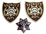 The Walking Dead Set of 2 Patches 4 Inches Tall and King County Pin Set