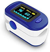 Wellue Fingertip Blood 02 Meter, Heart Rate Monitor with Batteries & Lanyard