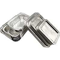 Amaoma 30 Piezas Desechables Papel de Aluminio para Horno,Caja Desechable de Papel Aluminio con Tapas Cubiertas Recipientes Portátiles para Alimentos 230 ML 400 ML 600 ML