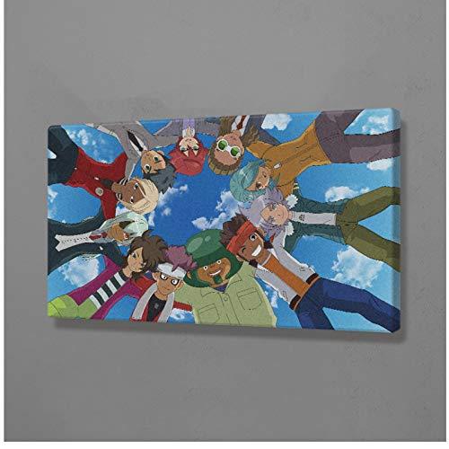 ADNHWAN Cartel del Juego Inazuma Eleven, Impresiones en Lienzo, imágenes artísticas de Pared, Impresiones en la Pared, decoración del hogar, Regalo de decoración, 50x75cm sin Marco, 1 Uds.