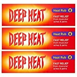 3 X Deep Heat Hitze Rub 100g)300g TOTAL)
