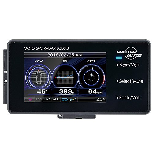 デイトナ バイク用 レーダー探知機 液晶表示 Bluetooth対応 更新データ無料ダウンロード 防水 バッテリー駆動対応 MOTO GPS RADAR LCD 3.0 94420