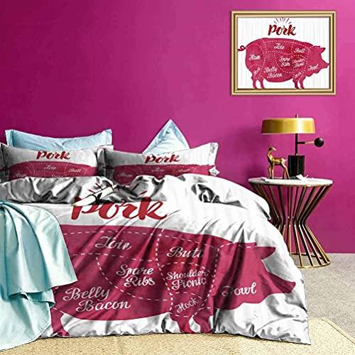 Cubrecamas Cubrecamas Cortando Carne de Cerdo Diagrama Suave y Ligera Cubrecamas para habitación de Invitados