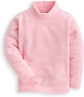 Kids Fleece Shirts High Collar Soft Tops Unisex