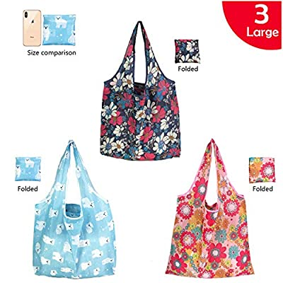 Reusable Grocery bags-Reusable shopping bags Baggu bag Grocery bag large tote bag for women?Reusable bags baggu reusable reuseae grocery bags baggu tote for foldable travel bag 50LBS+ 3 Large