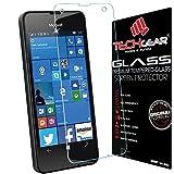 TECHGEAR Panzerglas für Lumia 550 - Panzerglasfolie Anti-Kratzer Schutzabdeckung kompatibel mit Microsoft Lumia 550