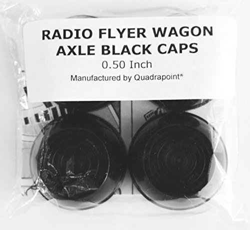 Quadrapoint Hub Caps for Radio Flyer Steel & Wood Wagons 1/2' New Black (NOT for...