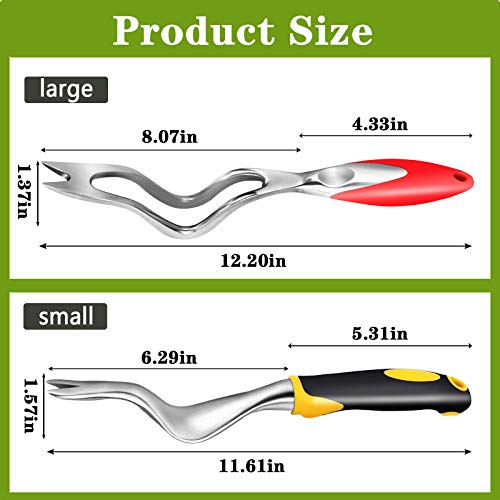 changsha 2 pcs Weeding Removal Cutter Tools, Dandelion Digger Puller, Ergonomic Handle Weed Tool for Garden Lawn Farmland Yard Transplant Gardening Bonsai Tools