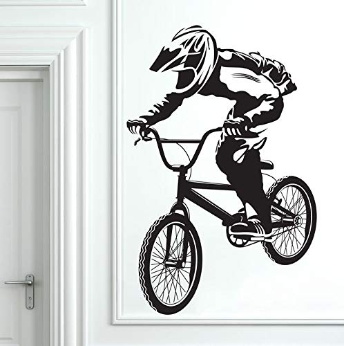 Beliebte BMX Fahrrad Biker Jungen Wandtattoo Art Decor Aufkleber Vinyl Wandbild Biker Wall Paper Wandaufkleber 58 * 90 CM