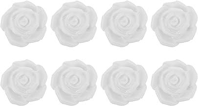 VOSAREA 8 Stuks Keramische Rose Flower Knoppen Bloemen Deurklink Kast Lade Kast Pull Ster Lade Knoppen Dresser Knoppen Han...