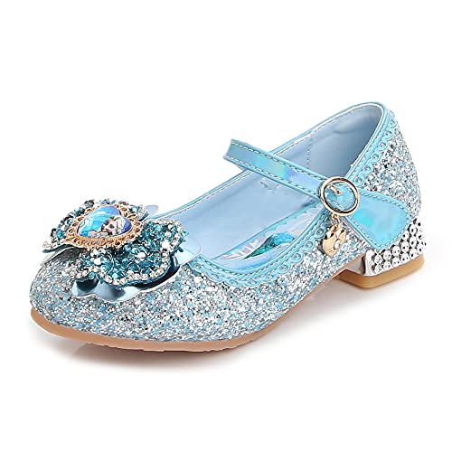 YOSICIL Zapatos de Princesa Frozen Zapatos de Bailarina Sandalias de Verano Zapatos de Lentejuelas para Fiesta Boda Cumpleaños Carnaval Navidad EU 23-36