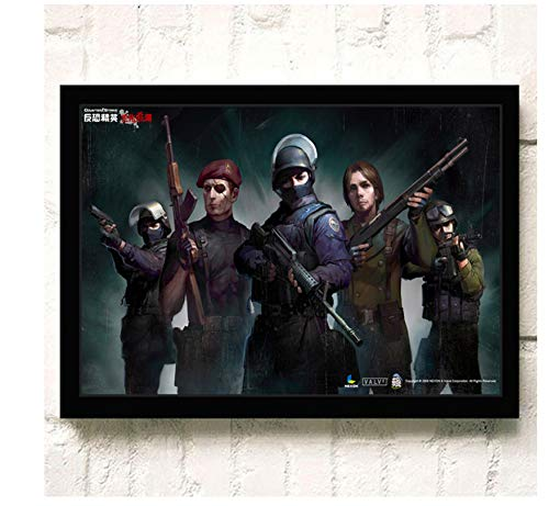 ACUOHU Leinwand Wandkunst Hd Online-Spiele Csgo Poster Und Druck Leinwand Malerei Home Decor Wandbild Kein Rahmen G1134 (40X60Cm)