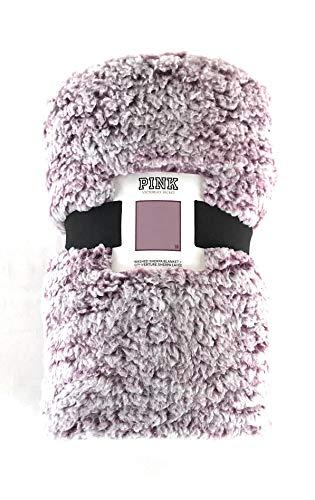 Victoria's Secret Pink Sherpa Blanket Plum
