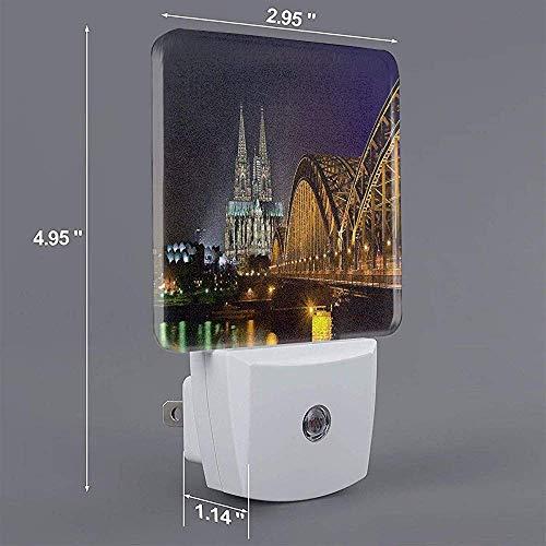 City Print Plug-In Lampe mit Dämmerungssensor Auto On/Off Nachtlicht, Nachtlicht