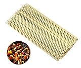 Possidonia Spiedini in legno di bambù | Spiedini di bambù per barbecue | Bacchette di legno per griglia e cibo | Confezione da 90 pezzi | 25 cm (25 cm)