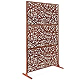 GARDEN DECOR: Decorate your space with the Veradek Outdoor Divider; Whether you use it as a patio, entrance or privacy accent, this decorative screen is the perfect fit with its sharp and modern appeal METAL SCREEN DIVIDER: The tall sleek outdoor pri...