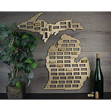 Wine Cork Traps State of Michigan Wine Cork Decorative Wooden Organizer Cork Holder