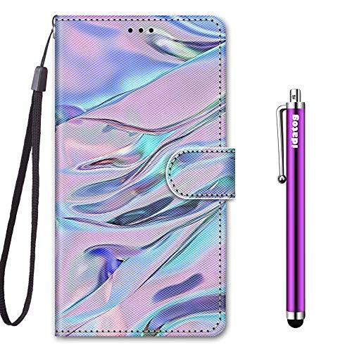 idatog Cover per Samsung Galaxy J5 2017 / J530, Custodia in Stile Dipinto Pelle PU Libro Portafoglio Cover Wallet Flip Caso con Supporto di Stand/Carte Slot/Chiusura Magnetica (Liquido)