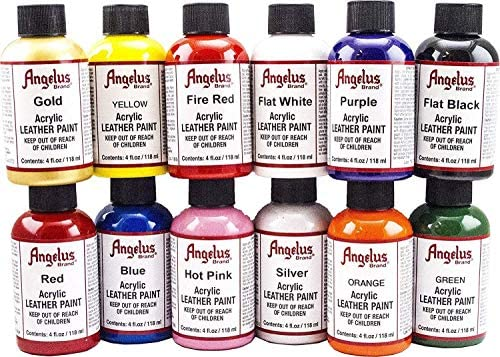 Angelus Leather Paint Set of 12 4 oz